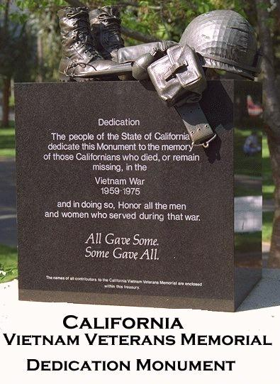 The California Vietnam Veterans Memorial