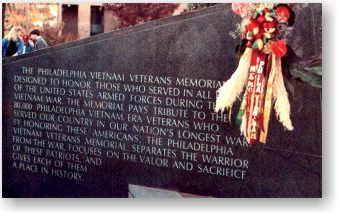 The Philadelphia Vietnam Veterans Memorial