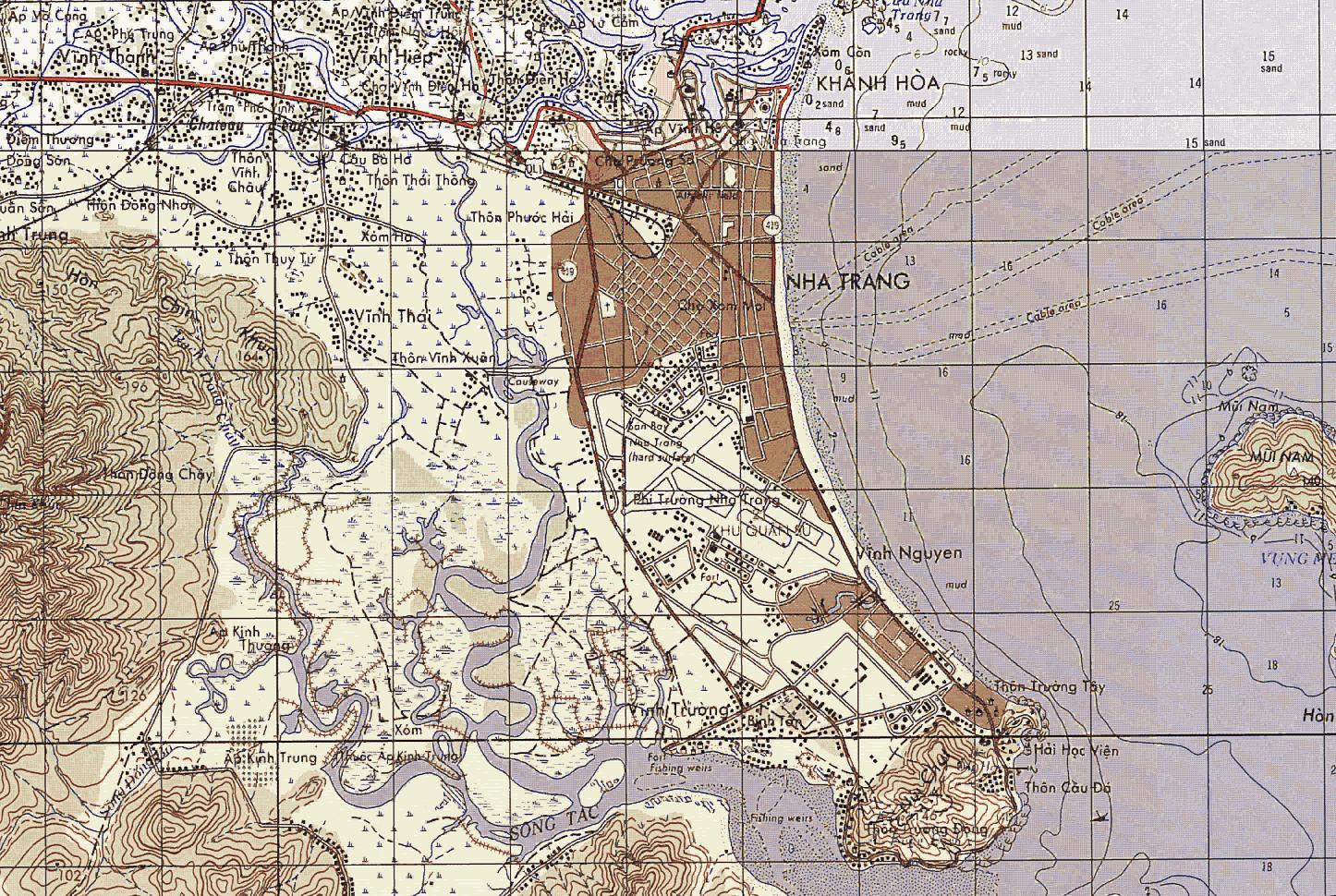 Tactical Map Vicinity Of Nha Trang